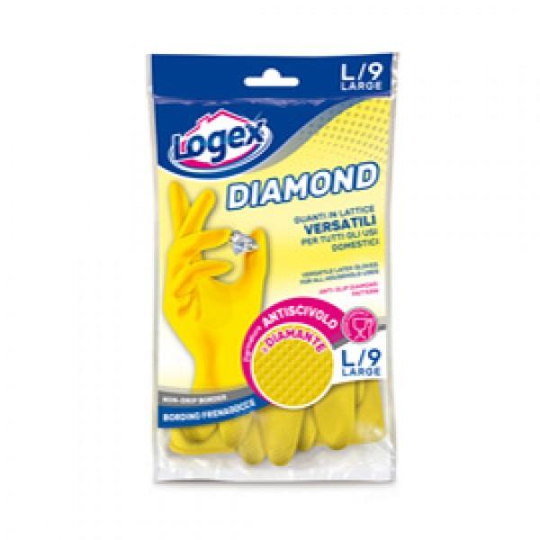 Guanti in lattice Diamond - taglia L - giallo - Logex Professional