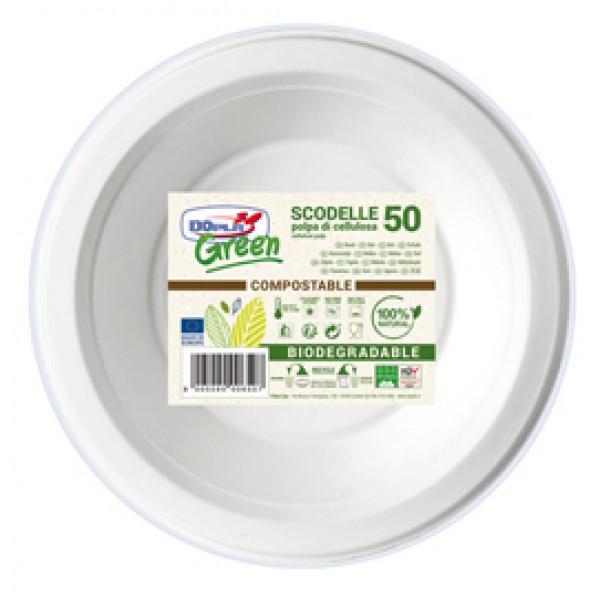 Scodelle biodegradabili - Ø 175 mm - Dopla Green - conf. 50 pezzi