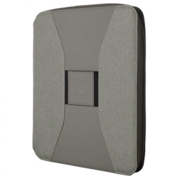 Portablocco Canvass - in tela - con zip - 26x33 cm - grigio - InTempo