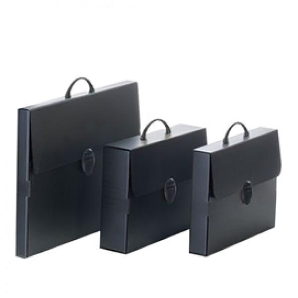 Valigetta Polionda Every Line Total Black - 27x37,5 cm - dorso 8 cm - Balmar 2000