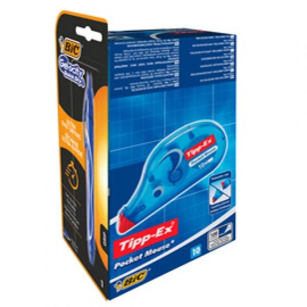Correttore a nastro Pocket Mouse - 4,2mm x 10mt - Tipp Ex - conf.10 pezzi + 1 gelocity