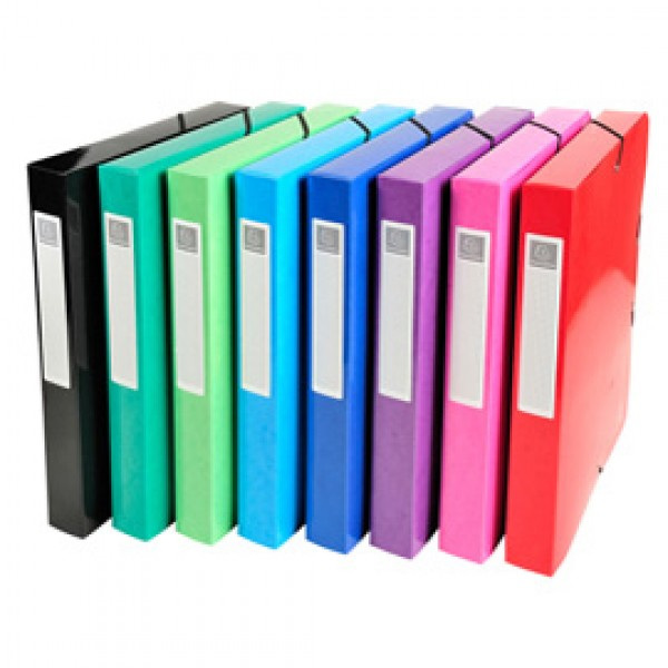 Scatola archivio box Iderama - diametro 40mm - A4 - 8 colori assortiti - Exacompta
