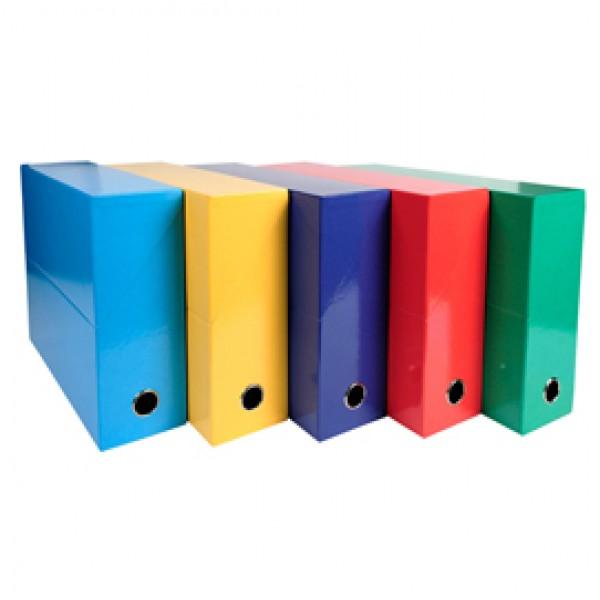 Scatola progetto Iderama - 5 colori assortiti classici - dorso 90mm - 25x33cm - Exacompta