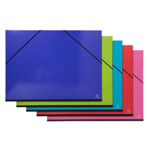 Cartella porta disegni con elastici Iderama - 52x72cm - colori assortiti - Exacompta