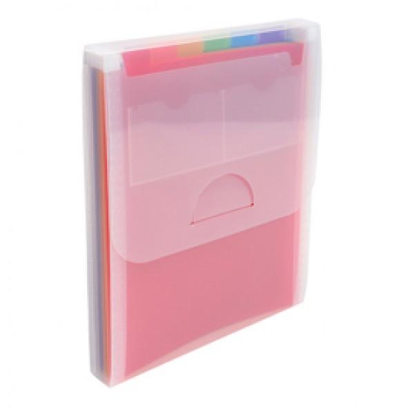 Classificatore valigetta verticale cristallo - 25,5x30,5cm - 6 tasche - PPL - Exacompta