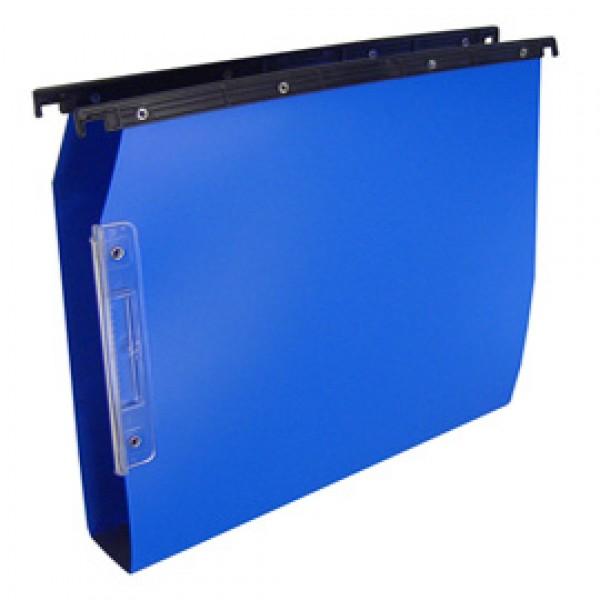 Cartella sospesa Cartesio PP - cassetto - PPL - interasse 33 cm - fondo U - 32,6x28cm - blu - Bertesi
