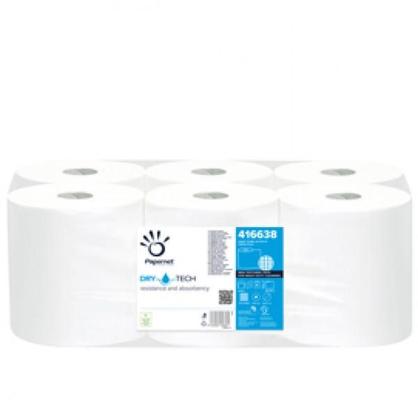 Bobina asciugamani Autocut DryTech - 1 velo - goffratura micro - 28 gr - 19,8 cm  x 300 mt - diametro 19,2 cm - Papernet