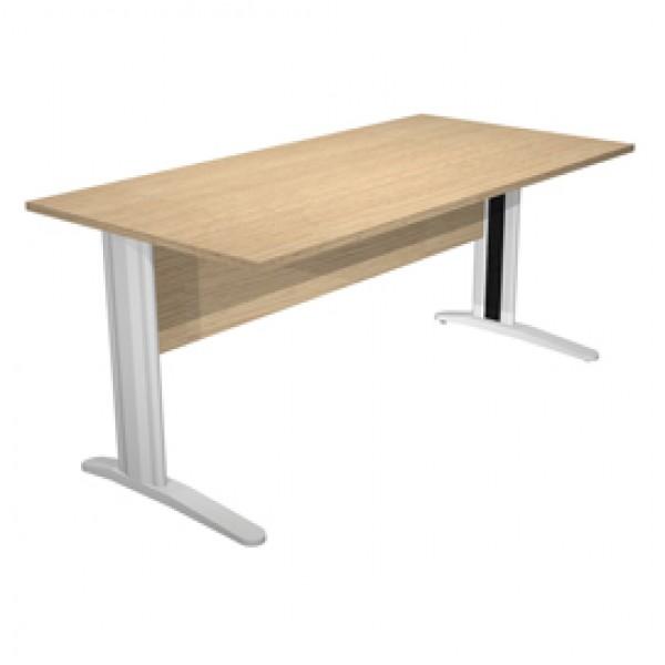 Scrivania Easy Metal - lineare - 160x80x72 cm - rovere - Artexport