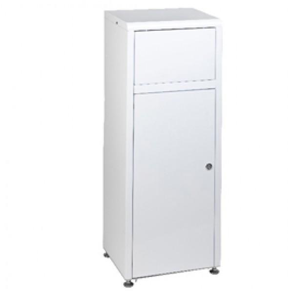 Contenitore Mini Mec - in metallo - 40x32,4x107,5 cm - bianco - 50 L - Medial International
