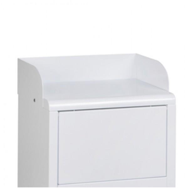 Guida ferma-vassoi per Mini Mec - in metallo - 40,5x26,8x11,5 cm - bianco - Medial International