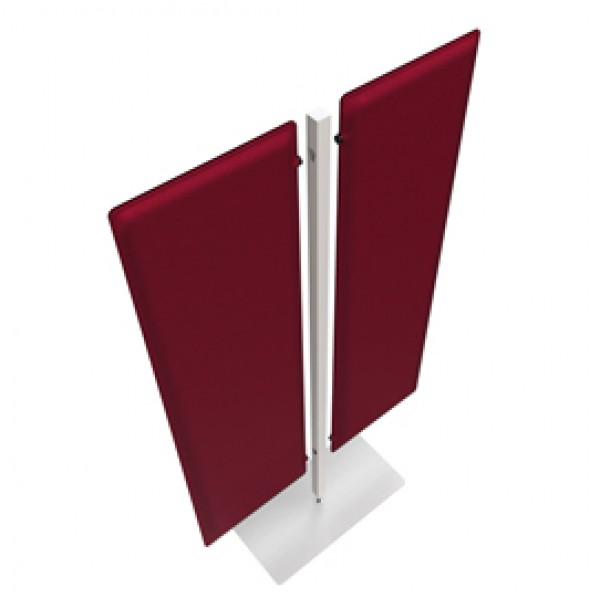 Piantana Moody - a 2 pannelli - altezza 160 cm - rosso - Artexport