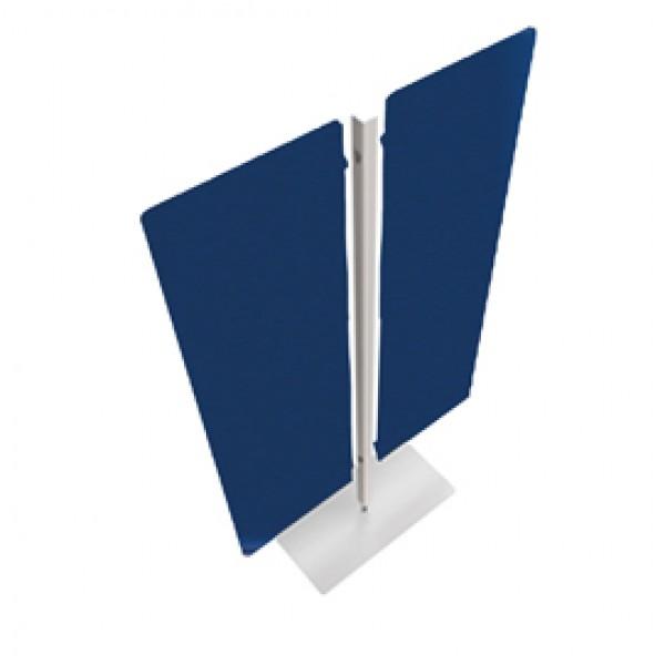 Piantana Moody - a 2 pannelli - altezza 180 cm - blu - Artexport