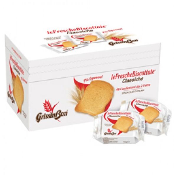 Le Fresche Biscottate - GrissinBon - multipack da 48 monoporzioni (18 gr cad)