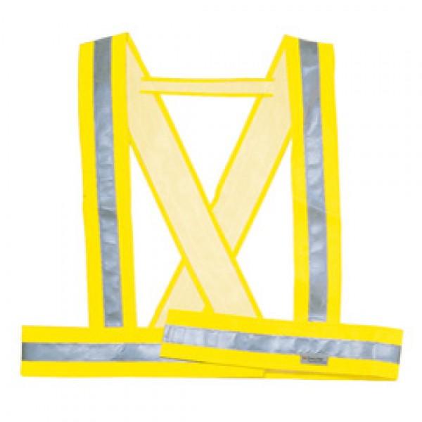 Bretella alta visibilitA' Bauce giallo fluo Tg. M Deltaplus