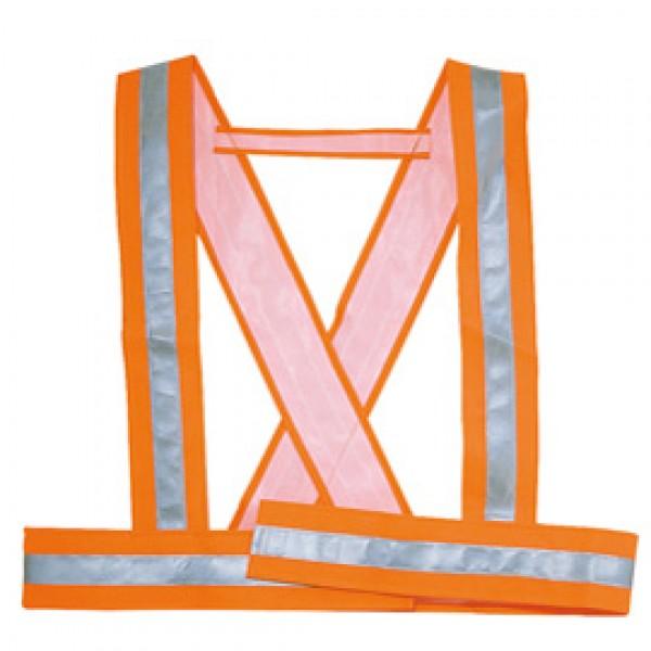 Bretella alta visibilitA' Bauce arancio fluo Tg. M Deltaplus