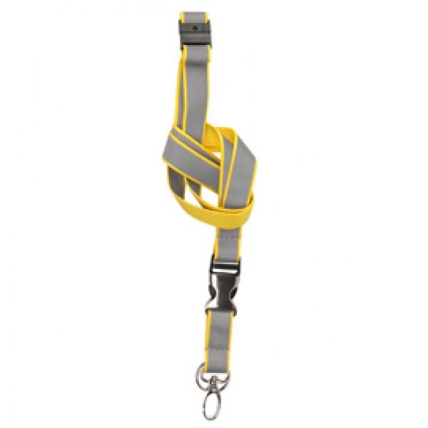 Cordoncini per portabadge - catatarifrangenti - giallo neon - 3L - conf. 10 pezzi