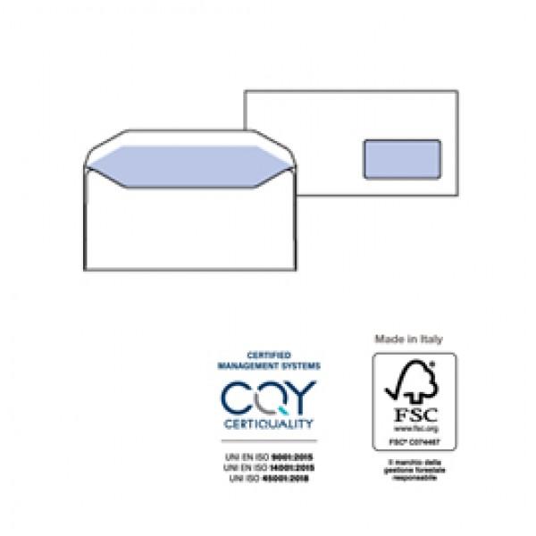 Buste bianche Speedmatic - con finestra - 110x230 mm - 80 gr - Pigna - conf. 500 pezzi
