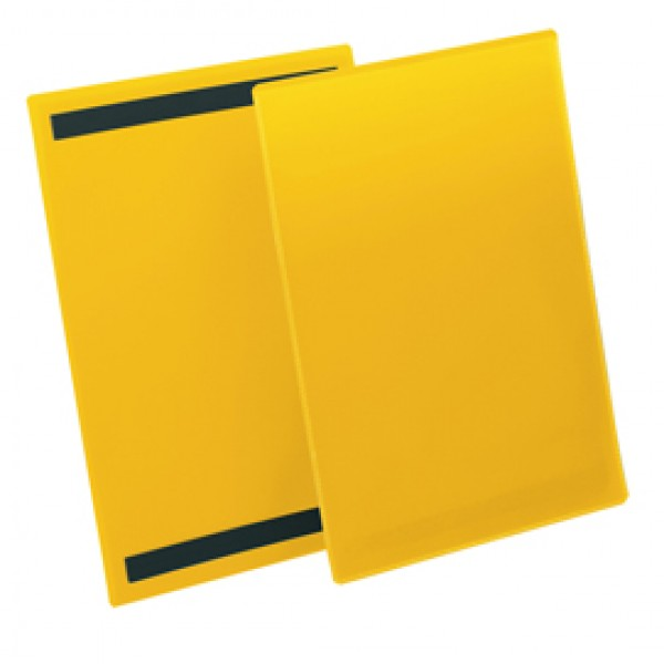 Buste con bande magnetiche - A4 verticale - giallo - Durable - conf.50 pezzi