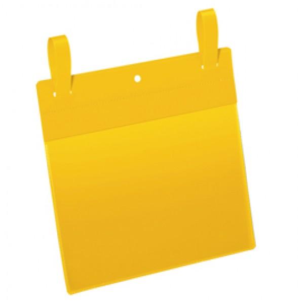 Buste con fascette di aggancio - A5 orizzontali - giallo - Durable - conf. 50 pezzi