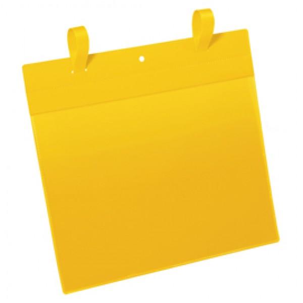 Buste con fascette di aggancio - A4 orizzontali - giallo - Durable - conf. 50 pezzi