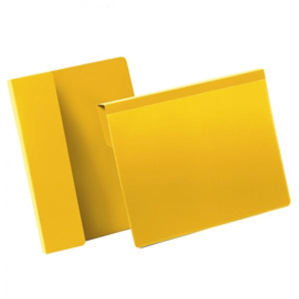 Buste con aletta pieghevole - A5 orizzontali - giallo - Durable - conf. 50 pezzi