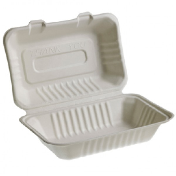 Vaschette Sandwich Take Away Bio - 23 x 15 cm - Leone - conf. 50 pezzi