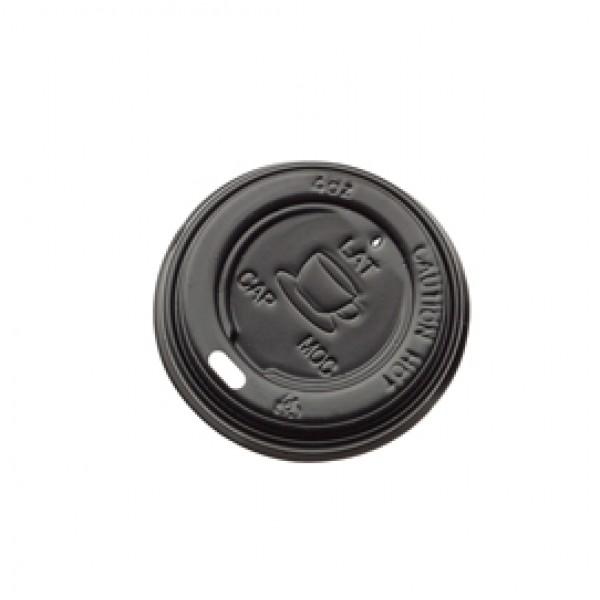 Tappo per bicchiere da 115 ml - polistirene - nero - Leone - conf. 1000 pezzi