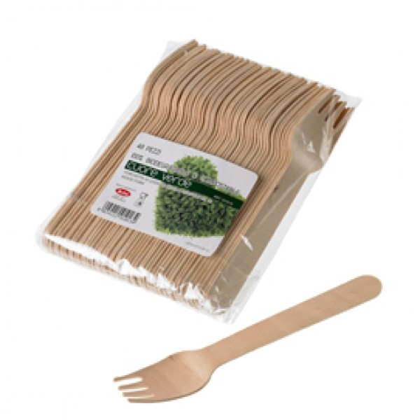 Forchette in legno - 16 cm - Leone - conf. 48 pezzi