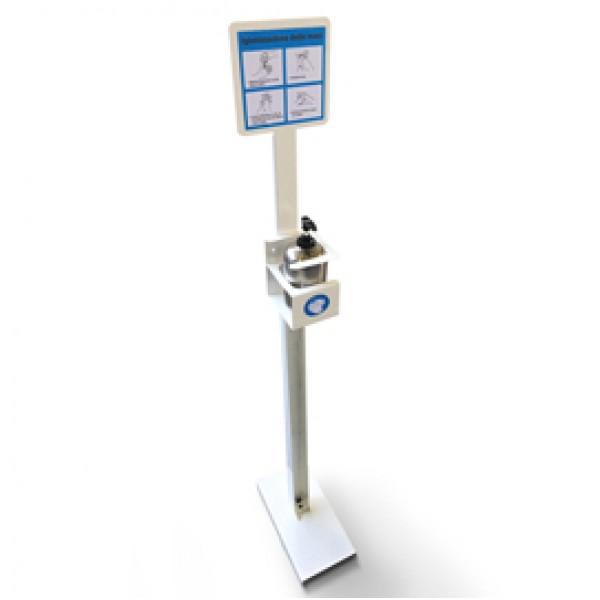 Piantana da terra porta dispenser da 500ml - max Ø 80mm - Metalplus