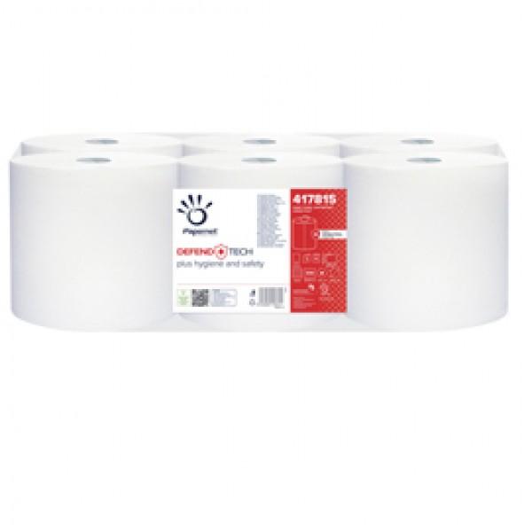 Asciugamani in rotolo Autocut Defend Tech - 115 mt - con formula antibatterica - Papernet