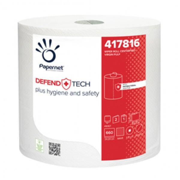 Bobina industriale Defend Tech - 660 strappi - con formula antibatterica - Papernet