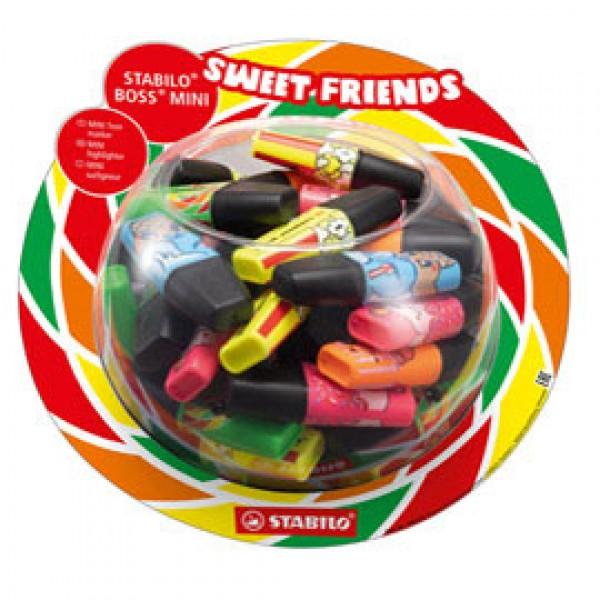Evidenziatore Boss Mini Sweet Friends - colori assortiti - Stabilo - expo 50 pezzi