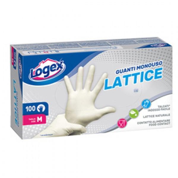 Guanti monouso in lattice - tg. L - Logex Professional - scatola 100 pezzi