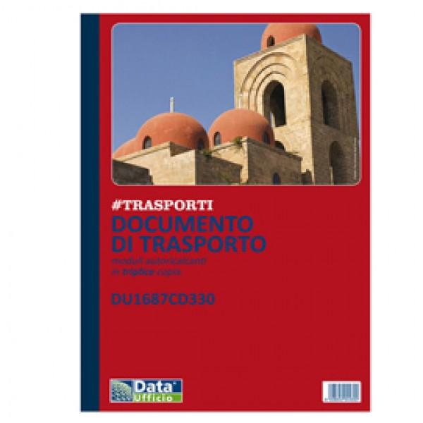 Blocco DDT - 33/33/33 copie autoric. - 29,7 x 21,5 cm - DU1687CD330 - Data Ufficio
