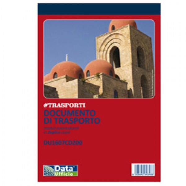 Blocco DDT - 50/50 copie autoric. - 21,5 x 14,8 cm - DU1607CD200 - Data Ufficio