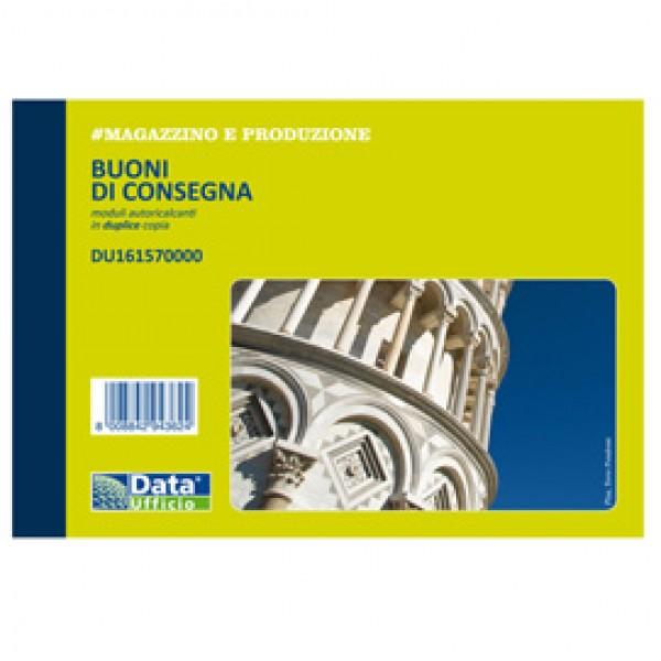 Blocco buoni di consegna - 50/50 copie autoric. - 11,5 x 16,5 cm - DU161570000 - Data Ufficio