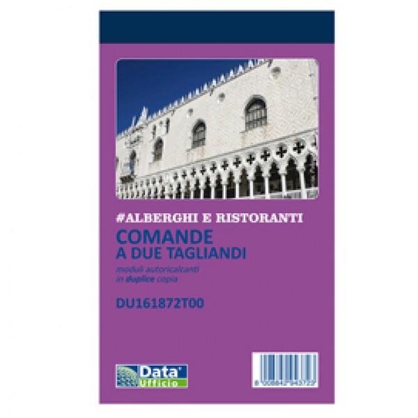 Blocco comande 2 tagliandi - 25/25 copie autoricopianti - 16,8 x 10 cm - DU161872T00 - Data Ufficio