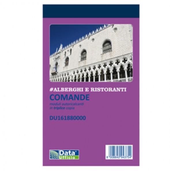 Blocco comande - 25/25/25 copie autoricopianti - 16,8 x 10 cm - DU161880000 - Data Ufficio