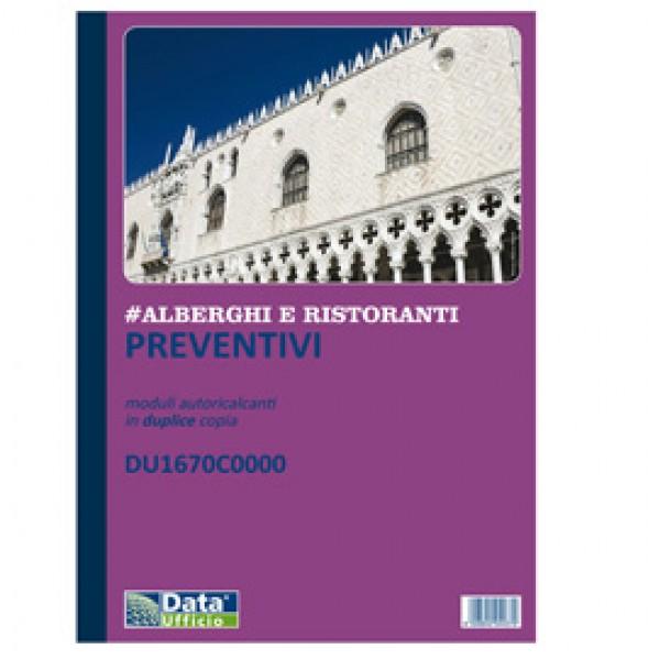 Blocco preventivi/ordini banchetti - 50/50 copie autoric. - f.to 29,7 x 21,5 cm - DU1670C0000 - Data Ufficio