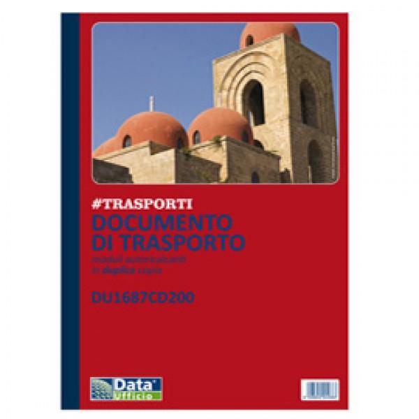 Blocco DDT - 50/50 copie autoricopianti - 29,7 x 21,5 cm - DU1687CD200 - Data Ufficio