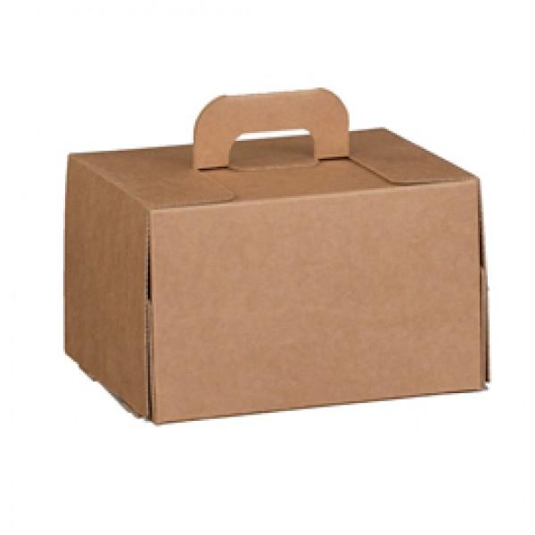 Valigetta box per asporto linea Cadeaux - 16x14x10 cm - avana - Scotton