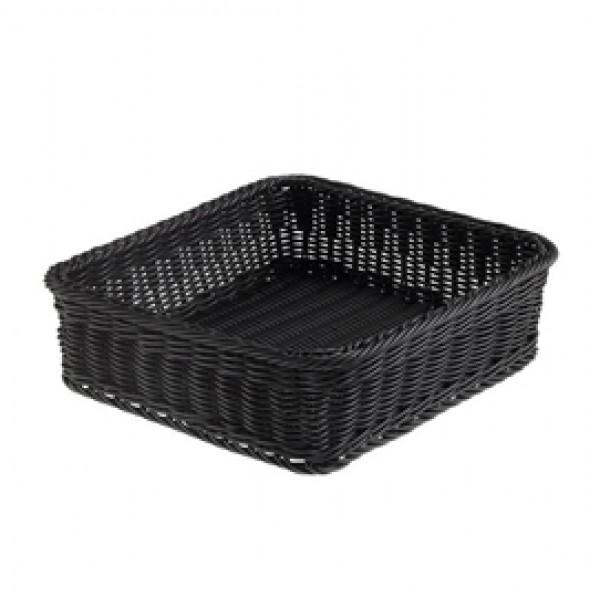 Cestino quadrato Vanity - in PPL - 32,5x32,5x10 cm - nero - Leone