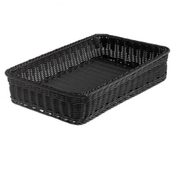 Cestino rettangolare Vanity - in PPL - 53x32,5x10 cm - nero - Leone
