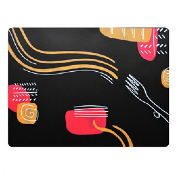 Tovaglietta americana linea Spaghetti - 41 x 31 cm - nero - Stilcasa