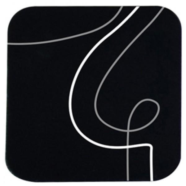 Sottobicchiere linea Spaghetti - 10x10 cm - nero - Stilcasa
