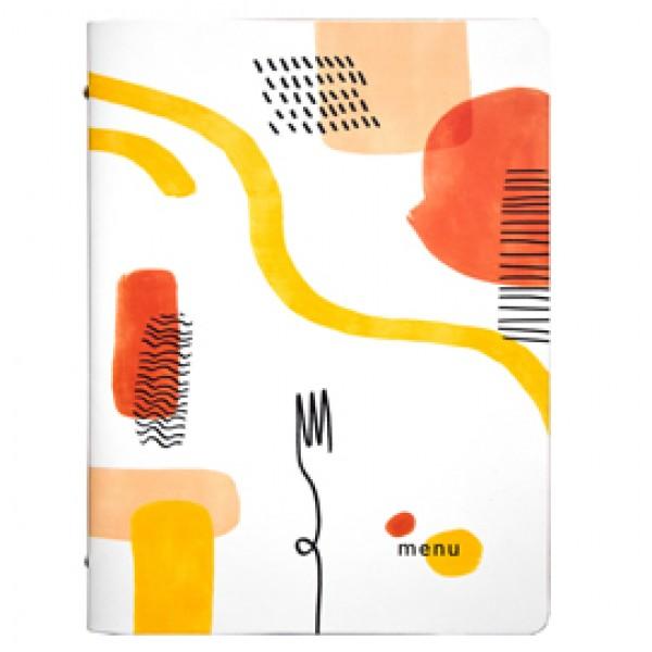 Portamenù linea Spaghetti -  A4 - 24,6x31,6 cm - bianco - Stilcasa