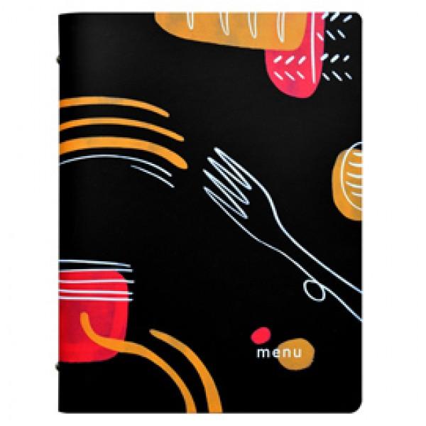 Portamenù linea Spaghetti -  A4 - 24,6x31,6 cm - nero - Stilcasa