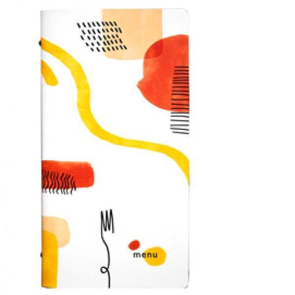 Portamenù linea Spaghetti - 18x31,6 cm - bianco - Stilcasa
