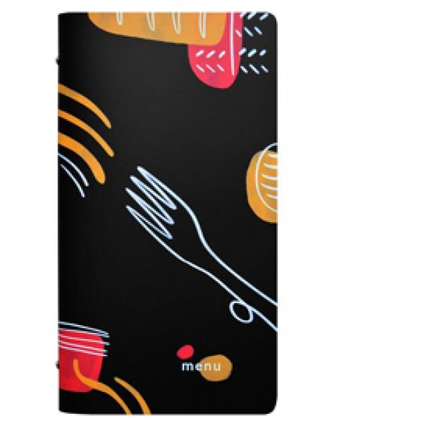 Portamenù linea Spaghetti - 18x31,6 cm - nero - Stilcasa