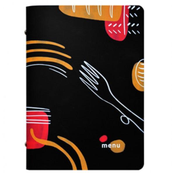 Portamenù linea Spaghetti - A5 - 17x23 cm - nero - Stilcasa